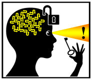 Desbloquee y active su cerebro Imagenes de archivo