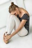Descanso da bailarina da menina Fotografia de Stock Royalty Free