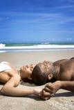 Descanso da praia Imagens de Stock
