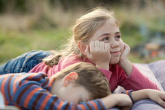 Descanso das crianças Foto de Stock