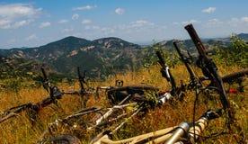 Descanso dos Mountain bike Fotos de Stock