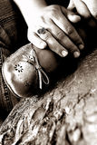 Descanso dos pés da mulher Imagens de Stock Royalty Free