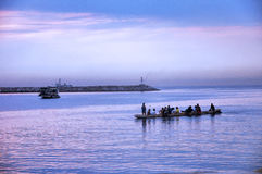 Descanso dos Rowers Foto de Stock