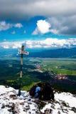 Descanso na parte superior da montanha Fotos de Stock