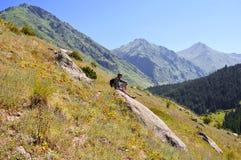 Descanso nas montanhas Imagens de Stock Royalty Free
