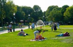 Descanso no parque de Gorky Fotografia de Stock