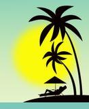 Descanso nos consoles havaianos Foto de Stock Royalty Free