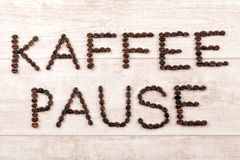 Descanso para tomar café (en alemán) fotografía de archivo libre de regalías