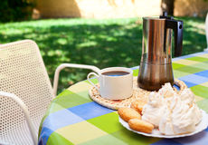 Descanso para tomar café en Cerdeña Imagen de archivo libre de regalías