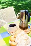 Descanso para tomar café en Cerdeña Foto de archivo