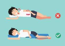 Descansos ortopédicos, para um sono confortável e uma postura saudável ilustração do vetor