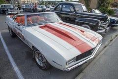 1969 descapotable de Chevrolet Camaro, coche de paso oficial Fotografía de archivo