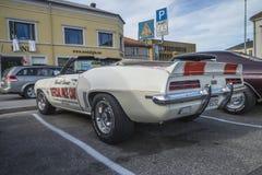 1969 descapotable de Chevrolet Camaro, coche de paso oficial Fotos de archivo libres de regalías