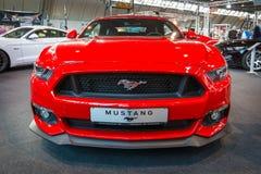 Descapotable de Ford Mustang GT del coche de potro (sexta generación), 2015 Foto de archivo libre de regalías