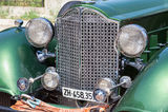 Descapotable retro de Packard del coche 1934 años Fotografía de archivo