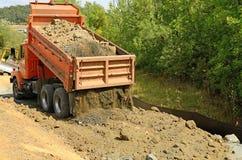 Descarga da estrada Imagem de Stock