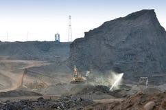 Descarga da mina de carvão imagem de stock royalty free