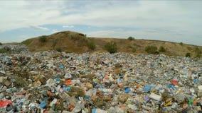 Descarga de basura enorme fuera de la ciudad en Ucrania metrajes