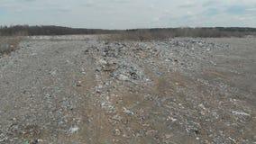 Descarga de basura grande almacen de metraje de vídeo