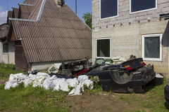 Descarga de basura rural Fotografía de archivo libre de regalías