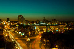 Descarga de la ciudad Imagenes de archivo