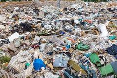 Descarga de lixo Imagens de Stock