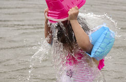 Descarga del agua Imagen de archivo libre de regalías
