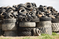 Descarga del neumático, Cobram Victoria Imágenes de archivo libres de regalías