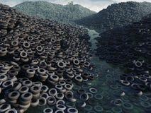 Descarga do pneu ilustração stock