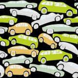 Descarga dos carros Fotografia de Stock