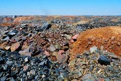 Descargas del mineral de hierro Imagen de archivo