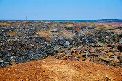 Descargas del mineral de hierro Fotos de archivo