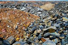 Descargas del mineral de hierro Fotografía de archivo libre de regalías