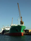 Descarregamento do navio Fotografia de Stock