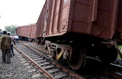 Descarrilamento de trem imagem de stock