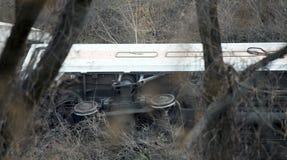 Descarrilamento de trem norte do metro no Bronx Fotos de Stock Royalty Free