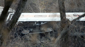 Descarrilamiento de tren del norte del metro en el Bronx Fotos de archivo libres de regalías