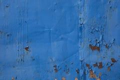 Descascando a pintura azul Foto de Stock Royalty Free