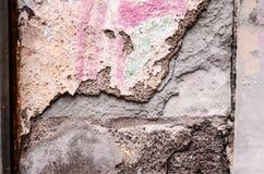 Descascando a textura branca do fundo da parede Foto de Stock Royalty Free