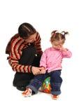 Descendant et mère Image libre de droits