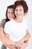 Descendant heureux de mère Photographie stock