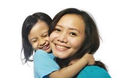 Descendant heureux de mère Images libres de droits