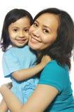 Descendant heureux de mère Photos libres de droits