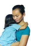 Descendant heureux de mère Photo stock