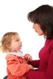 Descendant parlant de mère Photos libres de droits