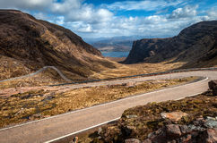 Descending Bealach na Ba from Applecross, Scottish Highlands Royalty Free Stock Photos