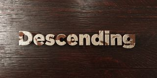 Descending - grungy wooden headline on Maple  - 3D rendered royalty free stock image. This image can be used for an online website banner ad or a print Royalty Free Stock Photos