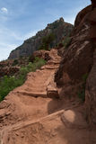 Descending the Kaibab trail stock image