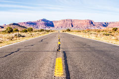 Descending into Monument at Utah  Arizona border Stock Images