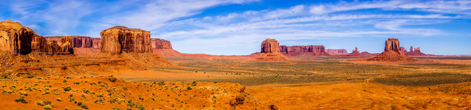 Descending into Monument Valley at Utah  Arizona border Royalty Free Stock Images